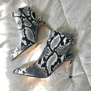 NWOT Nasty Gal faux snake cut out heels
